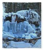 Maligne Canyon Frozen Fleece Blanket
