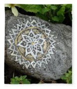 Mandala Stone  Fleece Blanket