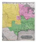 Map Of The United States Fleece Blanket