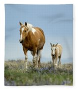 Mare And Foal Fleece Blanket