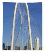 Margaret Hunt Hill Bridge In Dallas - Texas Fleece Blanket