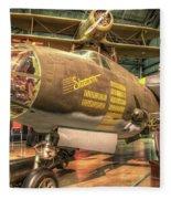 Martin B-26g, Marauder, Shootin In Fleece Blanket
