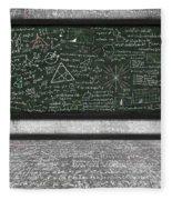Maths Formula On Chalkboard Fleece Blanket