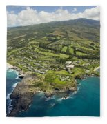 Maui Aerial Of Kapalua Fleece Blanket