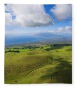 Maui Aerial Fleece Blanket