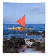 Maui Sailing Canoe Fleece Blanket