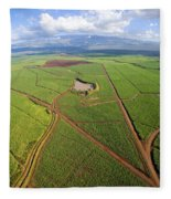 Maui Sugar Cane Fleece Blanket