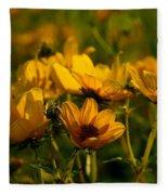 Maximilian Sunflowers Fleece Blanket