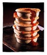 Meat Pies With Sauce And High Contrast Lighting. Fleece Blanket