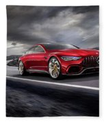 Mercedes A M G   G T Fleece Blanket