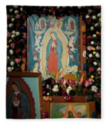 Mexico Our Lady Of Guadalupe Pilgrimage Fleece Blanket