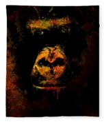 Mighty Gorilla Fleece Blanket