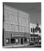 Miles City, Montana - Downtown 2 Bw Fleece Blanket
