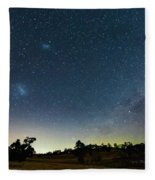 Milky Way And Countryside Fleece Blanket
