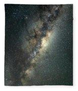 Milky Way With Mars Fleece Blanket