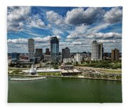 Milwaukee Wisconsin Fleece Blanket