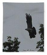 Mississippi Kite In Flight Fleece Blanket