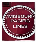 Missouri Pacific Lines Fleece Blanket