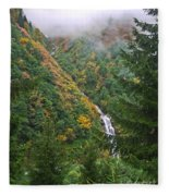 Misty Forest Turkey  Fleece Blanket
