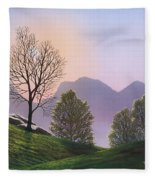 Misty Spring Meadow Fleece Blanket