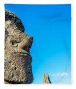 Moai Closeup Fleece Blanket