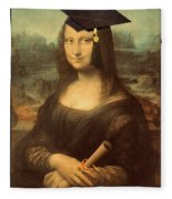 Mona Lisa  Graduation Day Fleece Blanket