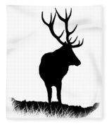 Monarch Of The Park  Fleece Blanket