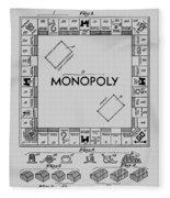 Monopoly Patent 1935 Fleece Blanket