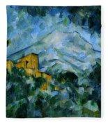Mont Sainte-victoire And Chateau Noir Fleece Blanket