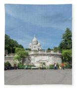 Montmarte Paris Sacre-coeur Fleece Blanket