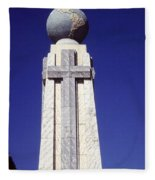 Monumento Al Divino Salvador Del Mundo Fleece Blanket