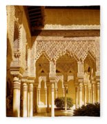 Moorish Architecture In The Nasrid Palaces At The Alhambra Granada Fleece Blanket