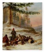 Moose Hunters Fleece Blanket