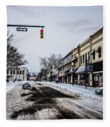 Moresville North Carolina Streets Covered In Snow Fleece Blanket