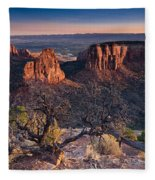 Morning At Colorado National Monument Fleece Blanket