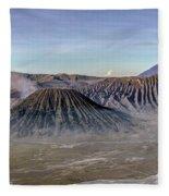 morning light Mount Bromo - Java Fleece Blanket