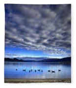 Morning Light On Okanagan Lake Fleece Blanket