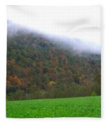 Morning Mountain Mist Fleece Blanket