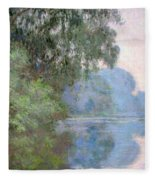 Morning On The Seine Near Giverny 1897 Fleece Blanket