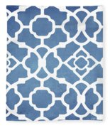 Moroccan Blues Fleece Blanket