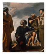 Moses And The Messengers From Canaan Fleece Blanket