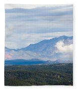 Mosquito Range Mountains In Storm Clouds Fleece Blanket
