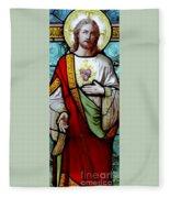 Most Sacred Heart Of Jesus Fleece Blanket