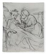 Mother With Sick Child 1878 Fig 29 9h22 6 Tg Vasily Perov Fleece Blanket
