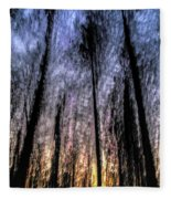 Motion Blurred Trees In A Forest Fleece Blanket