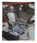 Motorcycle Close Up 1 Fleece Blanket