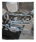 Motorcycle Close Up 2 Fleece Blanket