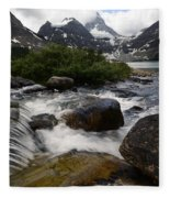 Mount Assiniboine Canada 17 Fleece Blanket