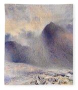 Mount Snowdon Through Clearing Clouds Fleece Blanket