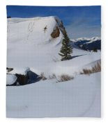 Mountain History Fleece Blanket
